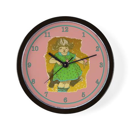 Vintage Girl Wall Clock