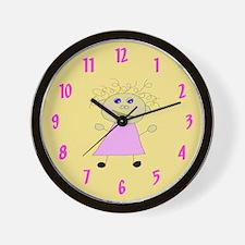 Pink Girl Wall Clock