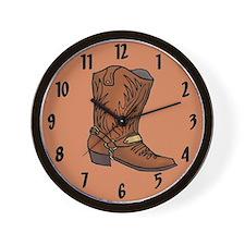 Cowboy Boot Wall Clock