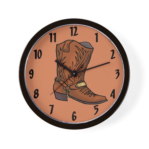 Cowboy Boot Wall Clock By Sagart