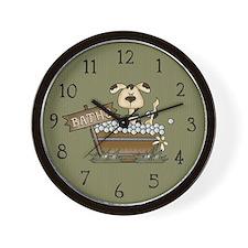 Bathtime Puppy Wall Clock