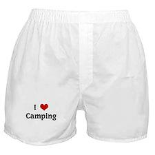I Love Camping Boxer Shorts