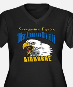 101st Airborne Women's Plus Size V-Neck Dark T-Shi