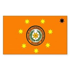 Cherokee Nation Flag Rectangle Decal