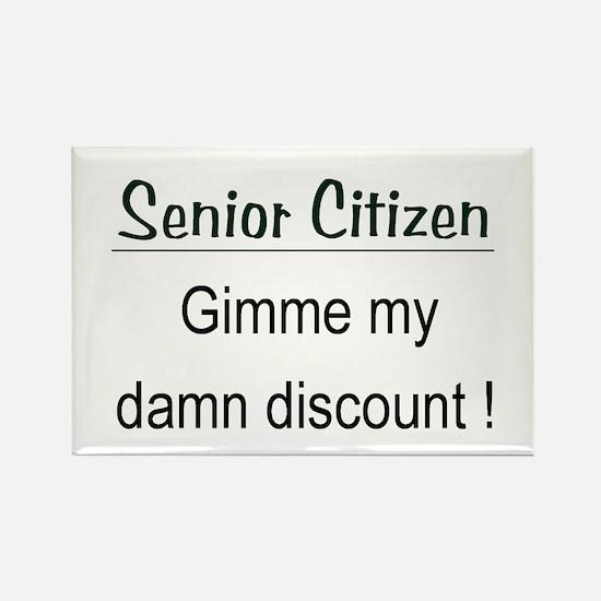 Senior Citizen Discount Rectangle Magnet