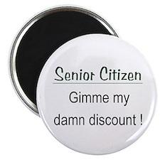 "Senior Citizen Discount 2.25"" Magnet (10 pack)"