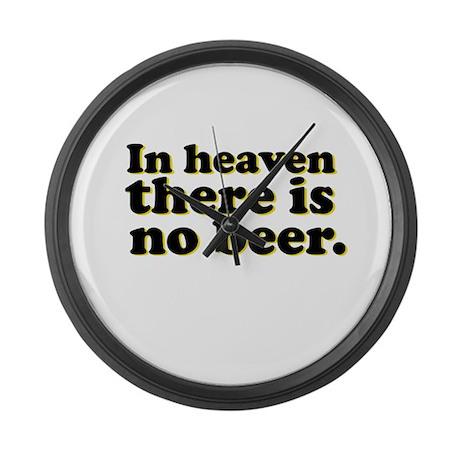 No Beer Large Wall Clock