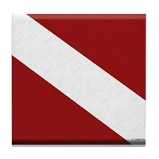 Dive Flag Tile Coaster