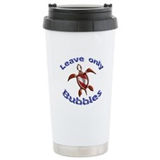 Leave only bubbles Travel Coffee Mug