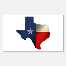 State of Texas Rectangle Decal