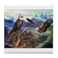 Unique American bald eagle Tile Coaster