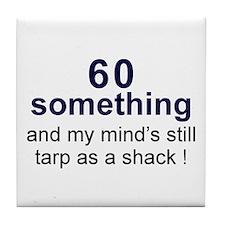 60 Something Tile Coaster