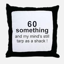 60 Something Throw Pillow