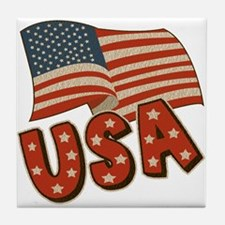 United State Flag Tile Coaster