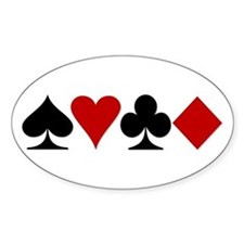 Poker! Oval Decal