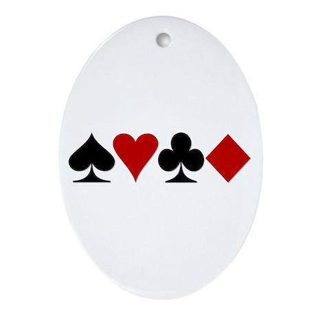 Poker! Oval Ornament