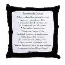 Anatomy of a Dancer Throw Pillow