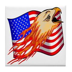 American Bald Eagle Tile Coaster