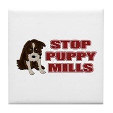 Stop Puppy Mills Tile Coaster