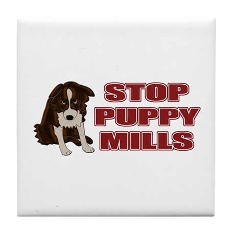 Stop Puppy Mills Tile Coaster