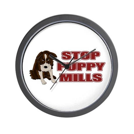 Stop Puppy Mills Wall Clock