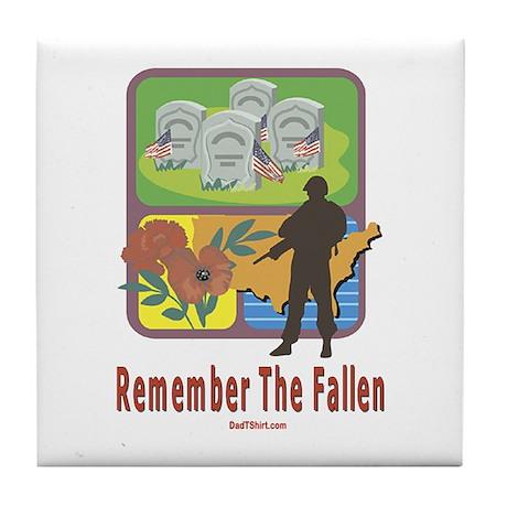Remember The Fallen Memorial Tile Coaster