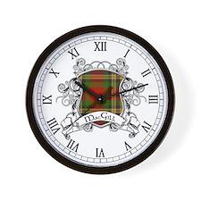 MacGill Tartan Shield Wall Clock