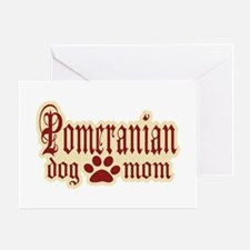 Pomeranian Mom Greeting Card