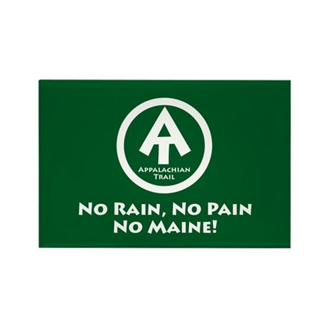 "At ""No Pain, No Maine"" Rectangle Magnet"