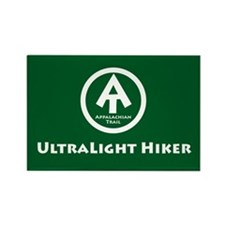 "At ""Ultralight Hiker"" Rectangle Magnet M"
