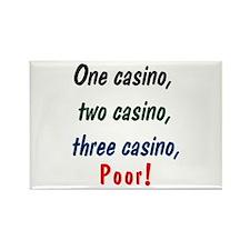 1,2,3 Casino Rectangle Magnet