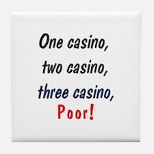1,2,3 Casino Tile Coaster