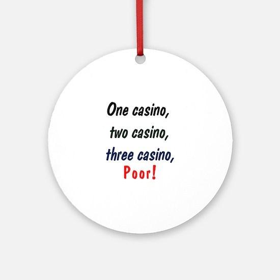 1,2,3 Casino Ornament (Round)
