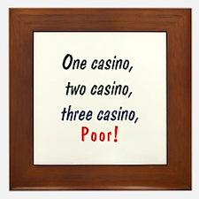 1,2,3 Casino Framed Tile