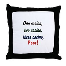 1,2,3 Casino Throw Pillow