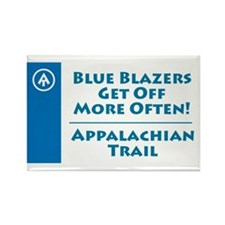 """AT """"Blue Blazers"""" Rectangle Magnet"""