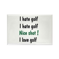 I Hate/Love Golf Rectangle Magnet