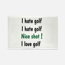 I Hate/Love Golf Rectangle Magnet