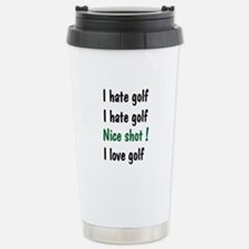 I Hate/Love Golf Stainless Steel Travel Mug