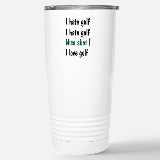 I Hate/Love Golf Stainless Steel Travel Mug