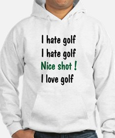 I Hate/Love Golf Hoodie