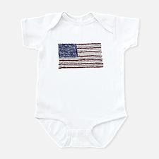 Glitter Flag Infant Bodysuit