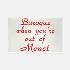 Baroque-Monet-Red Rectangle Magnet