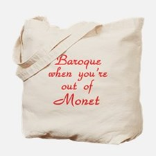 Baroque-Monet-Red Tote Bag