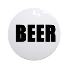 Cute Guiness beer Ornament (Round)