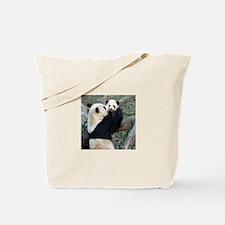 Mom & Baby Giant Pandas Tote Bag