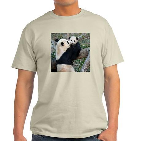 Mom & Baby Giant Pandas Light T-Shirt