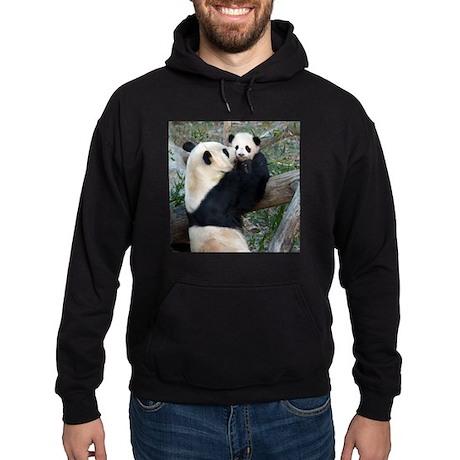 Mom & Baby Giant Pandas Hoodie (dark)