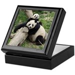 Mom & Baby Giant Pandas Keepsake Box