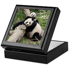 Mom & Baby Giant Pandas Keepsake Box
